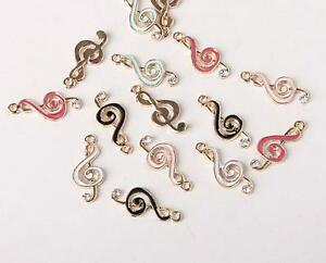 Lot black white musical note color mix Metal Charm Pendants DIY Jewelry Making