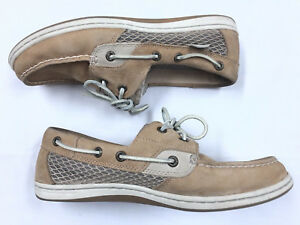c5f9509342a5 Image is loading SPERRY-Koifish-Boat-Shoes-Leather-Fabric-Women-039-