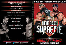 Official ROH Ring of Honor - Honor Reigns Supreme 2017 Event DVD