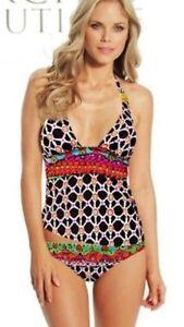 ea862debd5f30 NWT $178 Sz 8 Trina Turk Venice Beach Tankini W/ Side Buckle Hipster ...