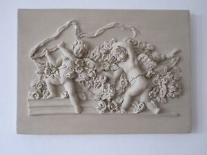BEAUTIFULL VINTAGE FRENCH COUNTRY CHERUBS WALL PLAQUE FURNITURE DIY EBay