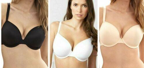,White,Black,or Nude 32-40 A B C D DD E Ladies Multiway T-Shirt Bra