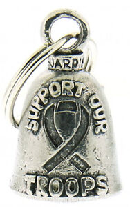 Suport Our Troops Guardian Bell Motorcycle Ride Gremlin Bell + Pouch #1033
