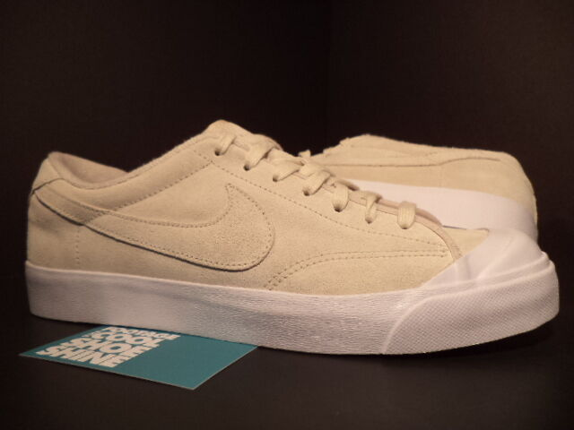 2010 Nike Zoom Air ALL COURT COURT COURT LEATHER Low BIRCH CREAM TAN WHITE 408809-201 DS 9.5 3173a6