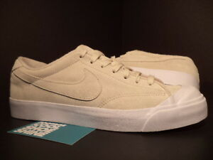 2010 Nike Zoom Air ALL COURT LEATHER Low BIRCH CREAM TAN WHITE 408809-201 DS 9.5