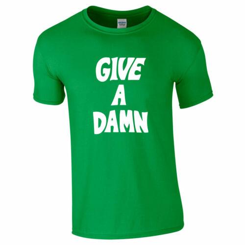 GIVE A DAMN TSHIRT TEE Top As Worn By Alex Turner Chung Last Arctic Monkeys Gift
