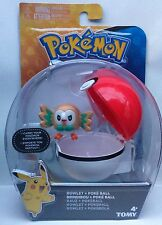 POKEMON SUN MOON CLIP 'N' CARRY POKEBALL ROWLET WITH POKE BALL FIGURE SET TOMY