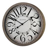 Bulova Westwood 24 Antique Grey Pine Veneer Finish Wall Clock C4815