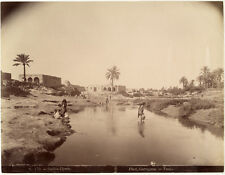 Photo Garrigues Tunis Albuminé Gabès Djara Tunisie Vers 1880