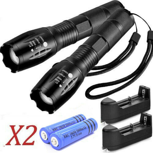 Rechargeable Super Bright Torch 990000LM Tactical Police LED Flashlight Zoomable