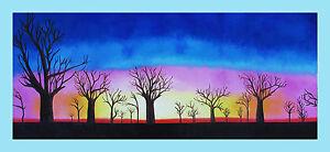 Print-tree-boab-landscape-australia-painting-canvas-sunrise-art-47-034-x-20-034