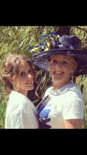 New Wedding.Occasion races..formal hat.mother of the bride NAVY SINAMAY HAT