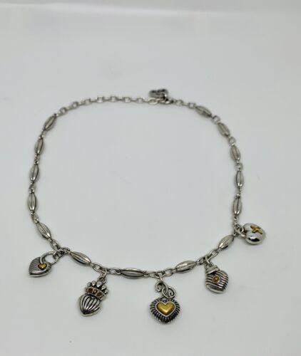 Brighton  Two Tone Heart Design Necklace