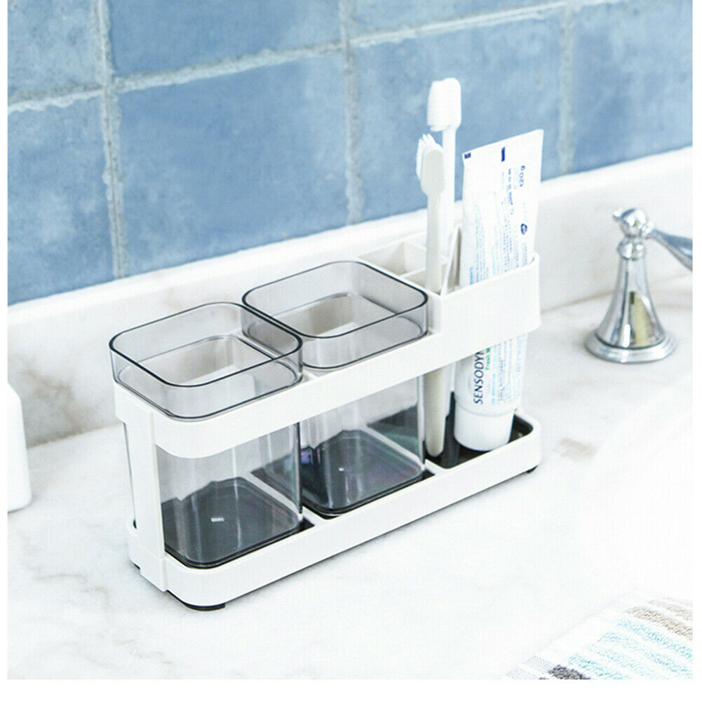TOOTHBRUSH HOLDER FOR 5 BRUSHES WITH 2 SUCTION CUPS STICK ON ¾mTEUS0E