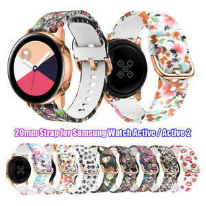 Armband-fuer-Samsung-Galaxy-Watch-Active-42mm-20mm-Strap-Watch-Band-Silikon