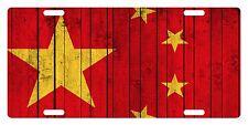 CHINA Flag Custom License Plate Chinese People Emblem Wood  Version