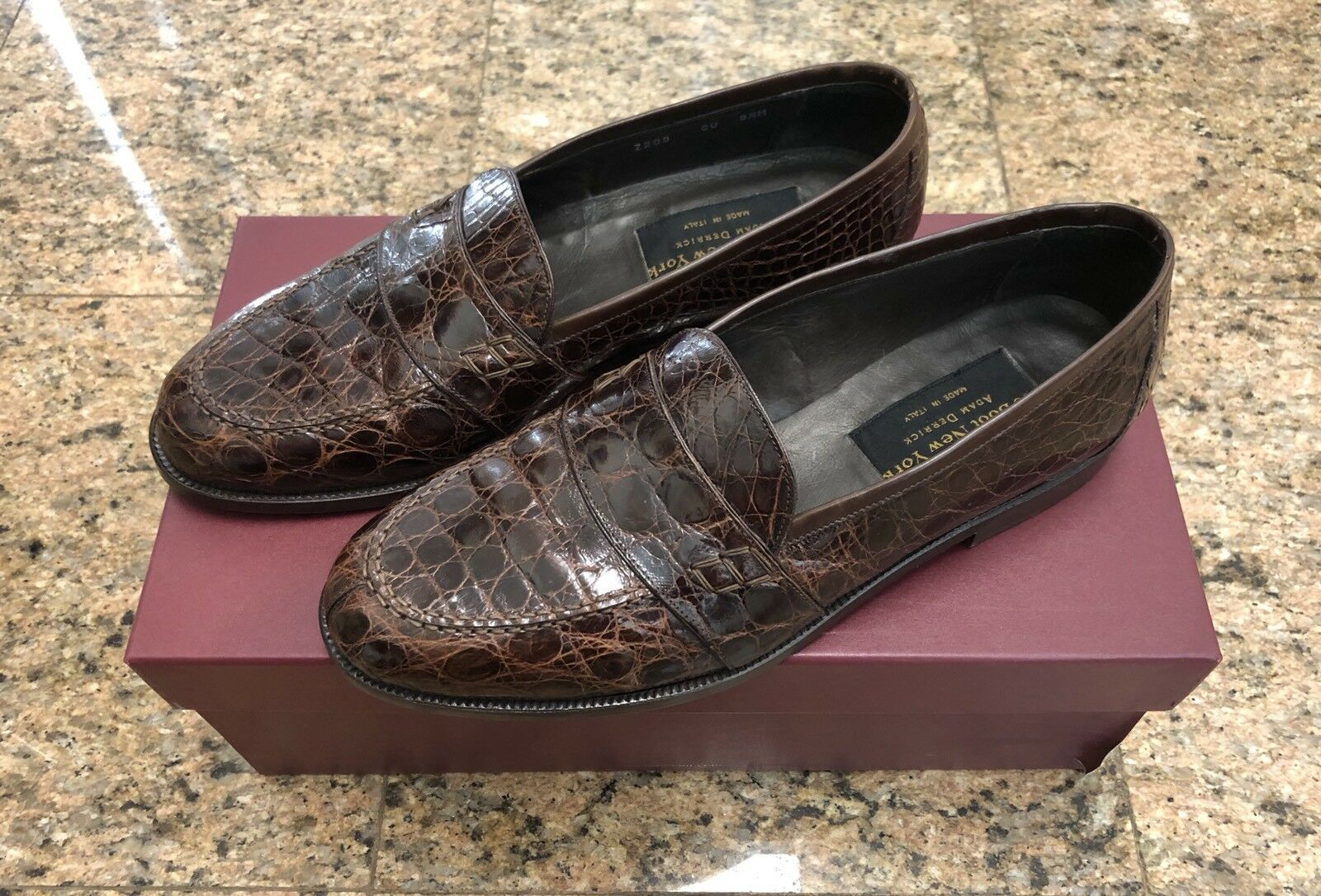 Too Boot Adam Adam Boot Derrick Brown Genuine Crocodile Loafers 3c0eef