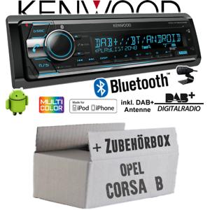 Opel-Corsa-B-Autoradio-Radio-Kenwood-DAB-Bluetooth-CD-USB-Android-Einbauset-DAB