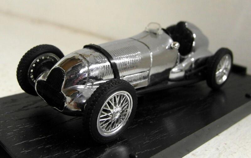 Brumm 1 43 Scale 100 Jahre 1886 1986 Chrome Mercedes W125 diecast model car
