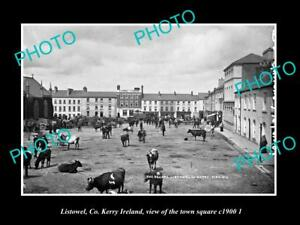 OLD-LARGE-HISTORIC-PHOTO-OF-LISTOWEL-KERRY-IRELAND-THE-TOWN-SQUARE-c1900-2