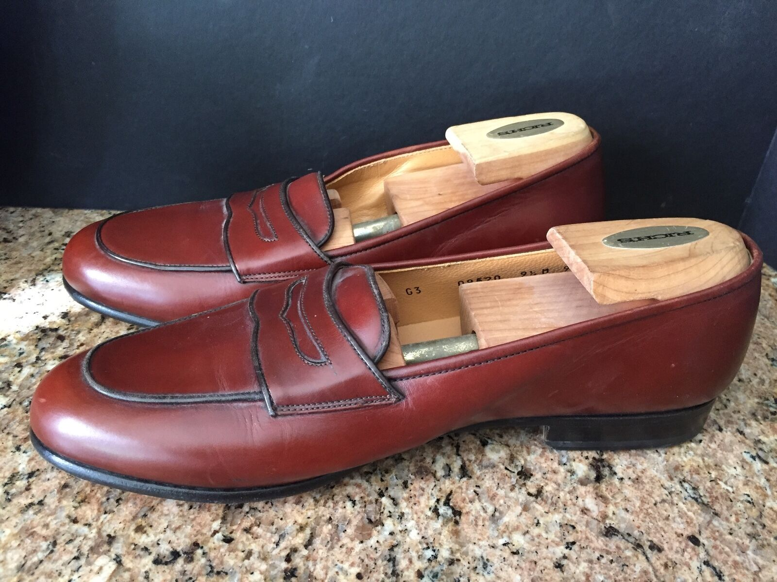 COLE HAAN ITALY LEATHER SLIP ON DRESS PENNY LOAFERS SADDLE BROWN  COLOR SIZE 9.5