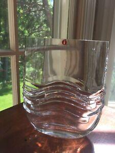 Iittala Glass Virrat Vase By Jorma Vennola Finland Ebay