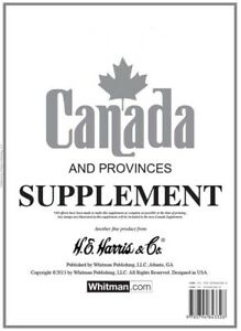 HE Harris Stamp Album Supplement Page Canada And Provinces 2017 New