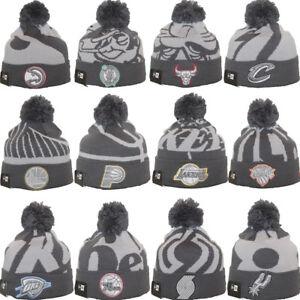 e6f109181 Details about New Era NBA LOGO WHIZ 3 Alternate Grey Sport Knit Pom Pom  Team Beanie Hat Cap