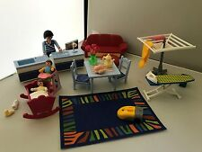PLAYMOBIL HOUSE KITCHEN WASHING LINE IRON MAT CRIB HIGHCHAIR FUTON BABY LOTS
