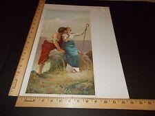 Rare Antique Original VTG 1894 NY Recorder Wooing F Andreotti Litho Art Print