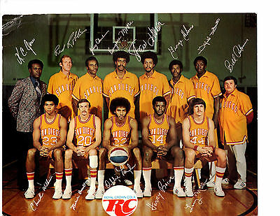 1974 SAN DIEGO CONQUISTADORS ABA  8X10  PHOTO WILT CHAMBERLAIN COACH LAKERS NBA