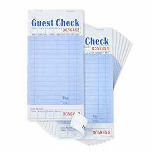 Guest Check Book, Server Note Pads and Waitress Order Pads, 50 Checks Per...