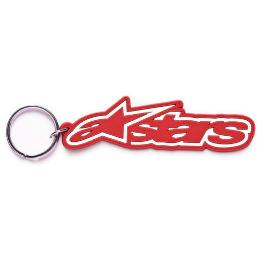 Red New Alpinestars Rub MX Motorcycle Casuals Key Ring
