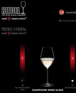 Riedel-Veritas-Champagne-Wine-Glass-Set-Brand-New