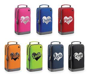 Personalised-Glitter-Heart-Shoe-Bag-Football-Boot-School-PE-Kit-Customised-Name
