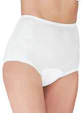 Dr. Leonard's 3 PACK WHITE M 7 Incontinence FULL COTTON BRIEF Panties Underwear