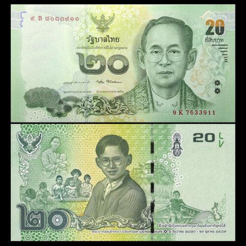 Thailand 20 Baht Banknote P-New UNC Asia Paper Money COMM. 2017