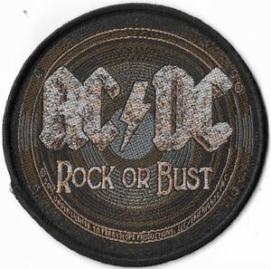 Official-Licensed-Merch-Woven-Sew-on-PATCH-Heavy-Metal-Rock-AC-DC-Rock-or-Bust