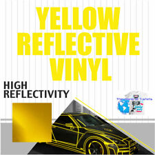 Reflective Sign Vinyl Adhesive Safety Plotter Cutter 12 X 60 5 Feet Yellow