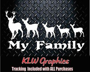 My-Deer-Family-kids-Vinyl-Decal-Sticker-Car-Truck-Hunting-Bow-Funny-2500