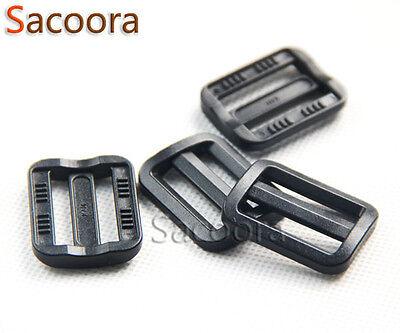 25mm Curve Slider Tri-Glide Adjust Tri-ring Buckles For Dog Collar Black