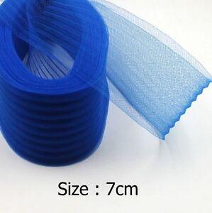 7cm Ripple Horse hair Crin Braids Wave Garment Crinoline Mesh Fabric 25yards