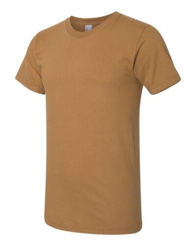 American Apparel T-Shirt Fine Jersey Crew Neck Blank Cotton Tee Shirt 2001W