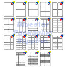 Address Labels White A4 Sheets Sticky Self Adhesive For Inkjet Laser Printer
