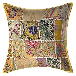 New Indian 4 Pcs Sets Cotton Plain Cushion Covers Of All Size Pillow Case Covers