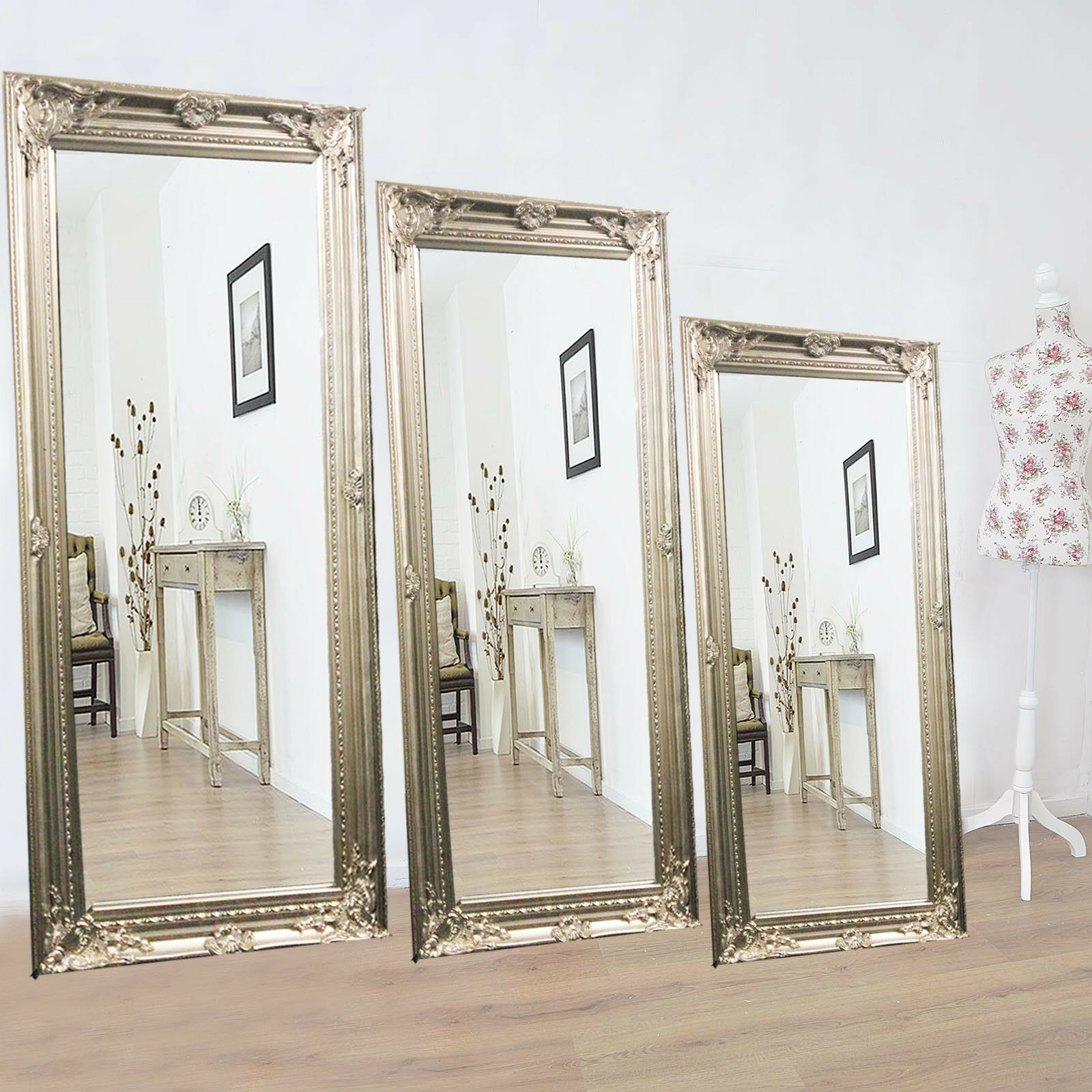 Modern Vintage French Style Length Floor Wall Shabby Chic Decor Mirror Antique For Sale Ebay