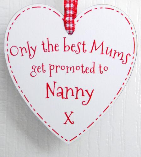 Nan // nannie presente Só o melhor Mães promovido a babá Coração Placa Sinal