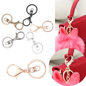 Metal-Classic-Swivel-Clips-Bag-Hook-Split-Ring-Key-Chain-Lobster-Clasp-KeyRing