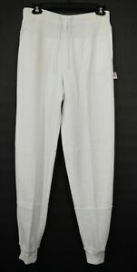Nike Womens White Drawstring & Stretch Waist Slash Pockets Cotton Sweatpants S