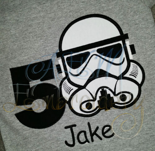 Personalized Storm Trooper Birthday Shirt